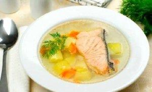 Рецепт: Рецепт ухи из семги