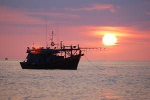Рыболовное судно в Азии. Нарушение прав человека в рыбном хозяйстве часто происходят вдалеке от берега, что усложняет проведение количественной оценки этой проблемы.