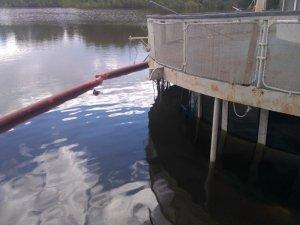 Экология: Разлив нефтепродуктов на реке Белой