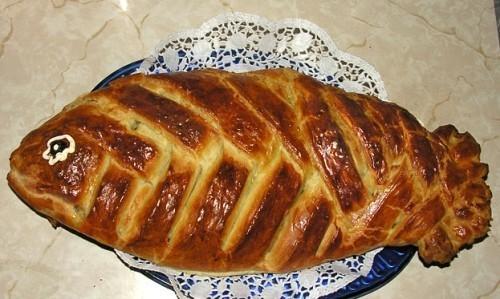 Рецепт: Рецепт пирога с рыбой и капустой