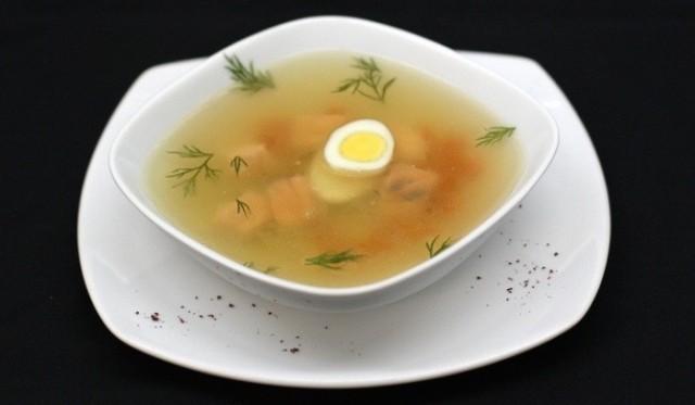 Рецепт: Рыбный суп с яйцом(Если ты живешь один))ХОЛОСТЯК